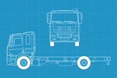 Vector vrachtwagen Royalty-vrije Stock Fotografie