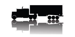 Vector vrachtwagensilhouet Stock Foto's