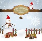 Vector Vrolijke Kerstmis Royalty-vrije Stock Afbeeldingen