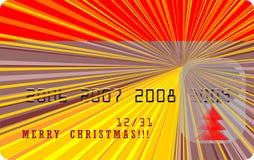 Vector vrolijke Kerstmiskaart royalty-vrije illustratie
