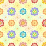 Vector vrouwelijk bloemenpatroon als achtergrond in zachte kleuren Stock Fotografie