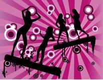 Vector vrouwenviering Stock Fotografie