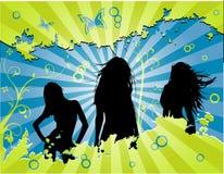 Vector vrouwenviering Stock Afbeeldingen