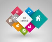 Vector Würfelkasten für Geschäftskonzepte und -Webdesign Lizenzfreies Stockfoto