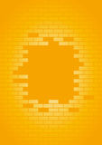 Vector wall. An illustration of a orange wall with missing bricks Stock Photos