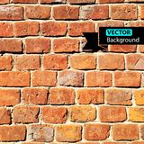 Vector wall brick, grunge background. EPS Royalty Free Stock Images