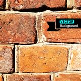 Vector wall brick, grunge background. EPS Royalty Free Stock Photo