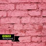 Vector wall brick, grunge background. EPS Royalty Free Stock Photography