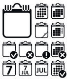 Vector Wall Calendar Icons Set Stock Images