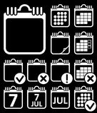 Vector Wall Calendar Icons Set Stock Photography
