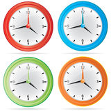 Vector  Wall Clock Set. Vector modern  Wall Clock Set Stock Images