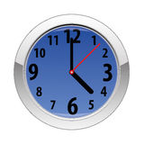 Vector wall clock. On white background Stock Photo