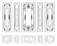 Vector Wall Frames wainscoting Decorative Damask Ornamented Stock Photography