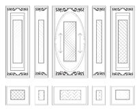 Vector Wall Frames wainscoting Decorative Damask Ornamented Royalty Free Stock Photography
