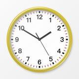 Vector wall office clock. Royalty Free Stock Photo
