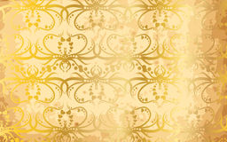 Vector wall paper. Old gold  wall paper Stock Photos