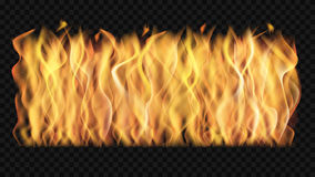 Vector wall of transparent fire Stock Photography