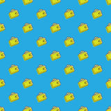 Vector wallet icons seamless pattern. Financial. Vector trendy wallet icons seamless pattern. Financial background in cartoon style Royalty Free Stock Images