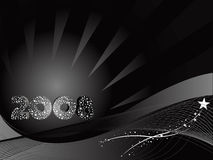 Vector wallpaper of 2008 background in black Royalty Free Stock Photography