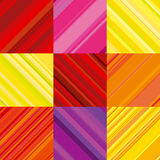 Vector wallpaper with colorful stripe. Stock Photography