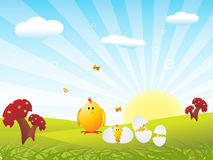 Vector wallpaper of easter family Stock Image