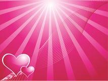 Vector wallpaper of gradient red hearts Stock Photos