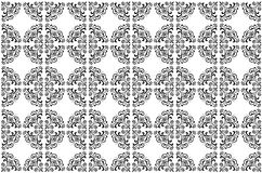Vector Wallpaper Pattern in Black and White Stock Photography
