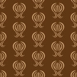 Vector wallpaper with a repeating pattern on a brown Royalty Free Stock Photography