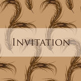 Vector wallpaper seamless. Invitation. Peacock. Vector invitation card with peacock feather. Wallpaper seamless.  Format eps10 Royalty Free Stock Photography