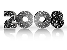 Vector wallpaper of year 2008 with stars background Stock Photos