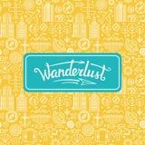 Vector wanderlust logo Royalty Free Stock Image