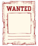 Vector wanted poster. Image on white Stock Photos