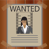 Vector - wanted poster woman business Royalty Free Stock Photos