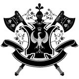 Vector wapenschild. Stock Afbeeldingen