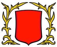 Vector wapenschild royalty-vrije illustratie