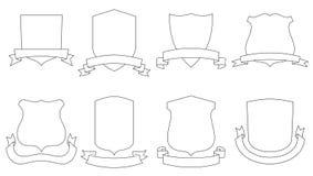 Vector wapenschilden stock illustratie