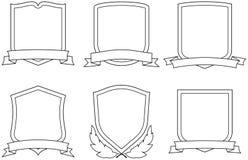 Vector wapenschilden Stock Afbeelding
