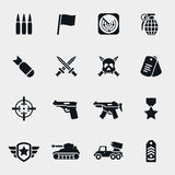 Vector war icons Royalty Free Stock Image