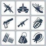 Vector war icons set Royalty Free Stock Photos