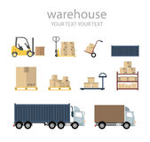 Vector warehouse Stock Photography