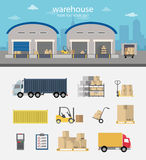 Vector warehouse Stock Images