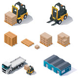 Vector warehouse equipment icon set Stock Photos
