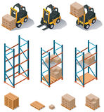 Vector warehouse equipment icon set Royalty Free Stock Photos