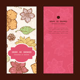 Vector warm fall lineart flowers vertical frame Royalty Free Stock Photos