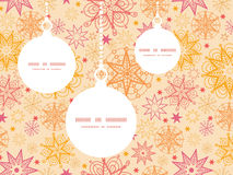 Vector warm stars Christmas ornaments silhouettes Stock Photos