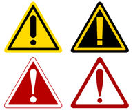 Vector warning attention signs Stock Photo