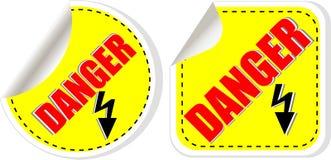 Vector warning danger sign set, vector Royalty Free Stock Photos