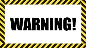 Vector Warning Sign, Dangerous Tape Frame, Caution Symbol. stock illustration