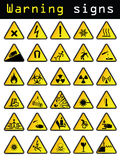 Vector warning signs Royalty Free Stock Photos