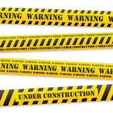 Vector warning tapes. Set of vector yellow tapes with black warning sign Stock Photography
